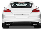 Straight rear view of a 2010 Porsche Panamera Turbo