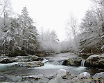 Winter scene on the Greenbrier River, GSMNP.