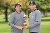 Jason Dufner and David Love III at The USA Team Picture for the Ryder Cup 2012, Medinah Country Club,Medinah, Illinois,USA.Picture: Fran Caffrey/www.Golffile.ie.