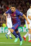 UEFA Champions League 2017/2018.<br /> Quarter-finals 1st leg.<br /> FC Barcelona vs AS Roma: 4-1.<br /> Luis Suarez.