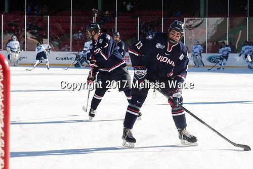 Jesse Schwartz (UConn - 17), Joseph Masonius (UConn - 13) - The University of Maine Black Bears defeated the University of Connecticut Huskies 4-0 at Fenway Park on Saturday, January 14, 2017, in Boston, Massachusetts.