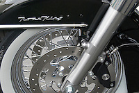 Harley Davidson Motorcycle Road King Front Wheel and Fender