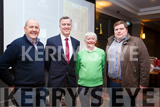 Six Nations table quiz organised by the Tralee Rugby club in the Ashe Hotel on Friday night last. The Organising Committee are, L-r, Tom Cronin, Tom Quilter, Mags Hayes and Shane O'Sullivan.