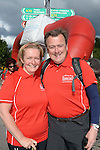 24-7-2014 Husband and wife Eithne and Karl McCoy, Balinora, Cork pictured in Caherdaniel, County Kerry as they head off on the Kerry Way Cancer research Walk on Friday.<br /> Photo: Don MacMonagle<br />  <br /> Now in its 10th year the Kerry Way Cancer Research Walk is a fundraising event that has gone from strength to strength contributing over &euro;600,000 to Cork Cancer Research Centre helping researchers to translate lab discoveries into new cancer treatment opportunities for poor prognosis and incurable cancers. The three day walk along the scenic Kerry Way takes walkers from Caherdaniel, along the Kenmare River and finishing in the Killarney area on Sunday.<br /> Photo Don MacMonagle<br /> <br /> Repro free photo from Kerry Cancer Research.