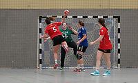 Clara Stein (Darmstadt) wirft - Mörfelden-Walldorf 09.02.2020: TGS Walldorf vs. TGB Darmstadt, Sporthalle