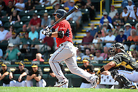 Minnesota Twins infielder Jose Martinez (66) during a Spring Training game against the Pittsburgh Pirates on March 13, 2015 at McKechnie Field in Bradenton, Florida.  Minnesota defeated Pittsburgh 8-3.  (Mike Janes/Four Seam Images)