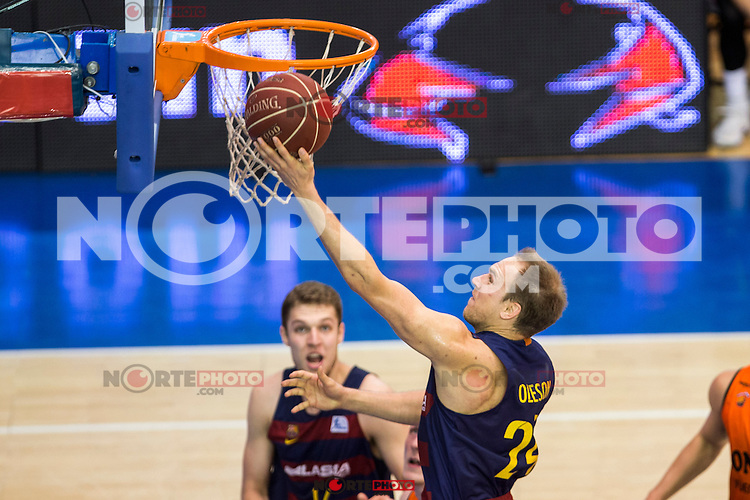 FC Barcelona Lassa's Brad Oleson during the match of Endesa ACB League between Fuenlabrada Montakit and FC Barcelona Lassa at Fernando Martin Stadium in fuelnabrada,  Madrid, Spain. October 30, 2016. (ALTERPHOTOS/Rodrigo Jimenez) /NORTEPHOTO.COM