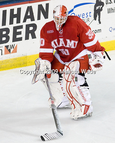 Cody Reichard (Miami - 30) - The Miami University Redhawks and University of New Hampshire Wildcats played to a 5-5 tie on Saturday, October 17, 2009, at the Whittemore Center in Durham, New Hampshire.