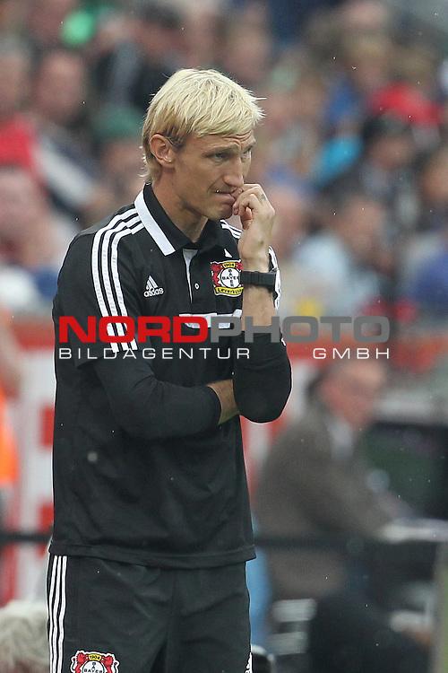 24.08.2013, BayArena, Leverkusen, GER, 1.FBL, Bayer Leverkusen vs Borussia Moenchengladbach, im Bild<br /> Sami Hyypi&radic;&sect; (Trainer Leverkusen)<br /> <br /> Foto &not;&copy; nph / Mueller *** Local Caption ***
