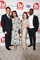 LONDON, UK. September 10, 2018: Ioann Gruffudd, Shelley Conn, Zoe Tapper &amp; Richie Campbell at the TV Choice Awards 2018 at the Dorchester Hotel, London.<br /> Picture: Steve Vas/Featureflash