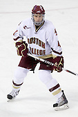 Tommy Cross (BC - 4) - The Boston College Eagles defeated the University of Massachusetts-Amherst Minutemen 6-5 on Friday, March 12, 2010, in the opening game of their Hockey East Quarterfinal matchup at Conte Forum in Chestnut Hill, Massachusetts.