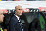 Zinedine Zidane coach of Real Madrid during the match of La Liga between Real Madrid and Futbol Club Barcelona at Santiago Bernabeu Stadium  in Madrid, Spain. April 23, 2017. (ALTERPHOTOS)