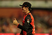 8th January 2018, The WACA, Perth, Australia; Australian Big Bash Cricket, Perth Scorchers versus Melbourne Renegades; Former Scorcher Brad Hogg plays up to the crowd in the outfield during the Scorchers innings