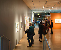 People gather for an art opening at the Madison Museum of Contemporary Art (MMoCA) on Friday, December 4, 2015
