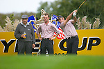 Ryder Cup. Paul McGinley during practise on the 16th tee of the Palmer Course at the K Club..Photo: Eoin Clarke/ Newsfile.