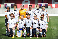The England team. The UEFA Womens U19 Championships at Parc y Scarlets, Monday 19th August 2013. All images are the copyright of Jeff Thomas Photography-www.jaypics.photoshelter.com-07837 386244-Any use of images must be authorised by the copyright owner.