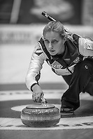 Glasgow. SCOTLAND.  Russian, &quot;Skip&quot;,  Victoria MOISEEVA, &quot;Round Robin&quot; Games. Le Gruy&egrave;re European Curling Championships. 2016 Venue, Braehead  Scotland<br /> Monday  21/11/2016<br /> <br /> [Mandatory Credit; Peter Spurrier/Intersport-images]