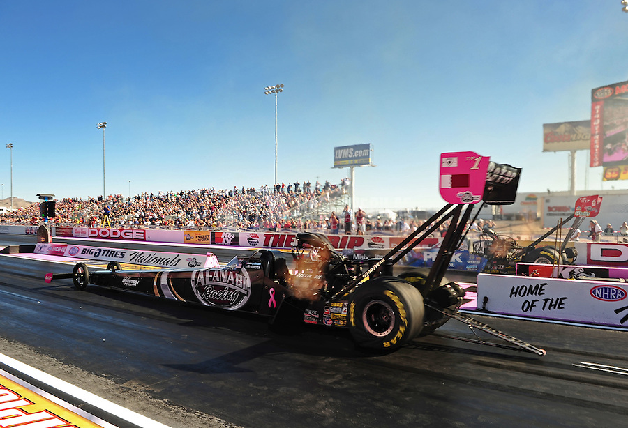Oct. 30, 2011; Las Vegas, NV, USA: NHRA top fuel dragster driver Larry Dixon during the Big O Tires Nationals at The Strip at Las Vegas Motor Speedway. Mandatory Credit: Mark J. Rebilas-