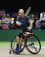 Rotterdam, The Netherlands, 14 Februari 2019, ABNAMRO World Tennis Tournament, Ahoy, first round wheelchair singles: Stefan Olsson (SWE),<br /> Photo: www.tennisimages.com/Henk Koster