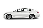 Car Driver side profile view of a 2018 Infiniti Q50 LUXE 4 Door Sedan Side View