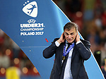 Germany's Stefan Kuntz celebrates during the UEFA Under 21 Final at the Stadion Cracovia in Krakow. Picture date 30th June 2017. Picture credit should read: David Klein/Sportimage