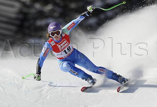 13.01.2013. St Anton, Austria.  Ski Alpine FIS World Cup Super G for women Tina Maze SLO
