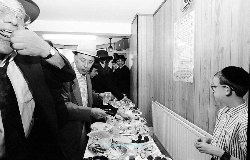 At a Jewish Hasidic wedding in Stamford Hill, London