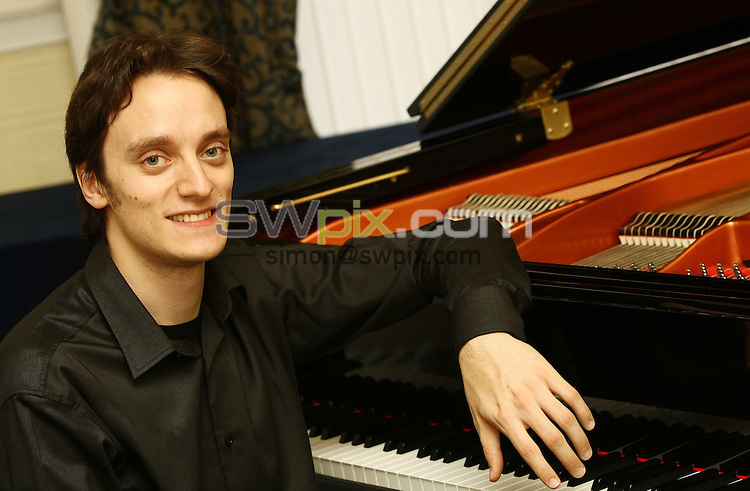 PICTURE BY VAUGHN RIDLEY/SWPIX.COM - Leeds International Pianoforte Competition 2009 - Devonshire Hall, Leeds University, Leeds, England - 10/09/09...Copyright - Simon Wilkinson - 07811267706...Italy's Alessandro Taverna prepares for the final of the Leeds International Pianoforte Competition 2009..The Leeds International Pianoforte Competition final will be broadcast on BBC Radio 3 on the 13th of September and on BBC Four from Friday 18th of September every Friday till the 23rd of October.