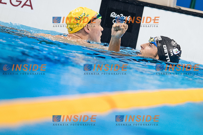 Detti Gabriele ITA<br /> 400 freestyle men<br /> Rio de Janeiro 06-08-2016 XXXI Olympic Games <br /> Olympic Aquatics Stadium <br /> Swimming finals 06/08/2016<br /> Photo Giorgio Scala/Deepbluemedia/Insidefoto
