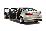 Car images close up view of a 2018 Ford Fusion SE 4 Door Sedan doors
