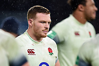 Sam Simmonds of England looks on after the match. Old Mutual Wealth Series International match between England and Australia on November 18, 2017 at Twickenham Stadium in London, England. Photo by: Patrick Khachfe / Onside Images