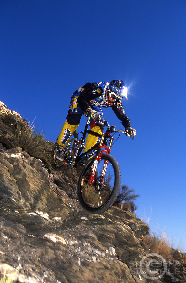Steve Peat riding GT Lobo downhill .nr Mojacar , Spain late 1990's.pic copyright Steve Behr / Stockfile.20101-43001-02a