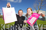 THINK PINK: Eamon Barry and Ashley Casey from Barry Packaging are for the second year supporting Breast Cancer Awareness month in October with their Pink Ribbon Carrier Bags Campaign.