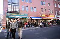 Various businesses including Amy's Bread and Murray's Cheese on Bleecker Street in Greenwich Village in New York on Wednesday, April 4, 2012. (© Richard B. Levine)