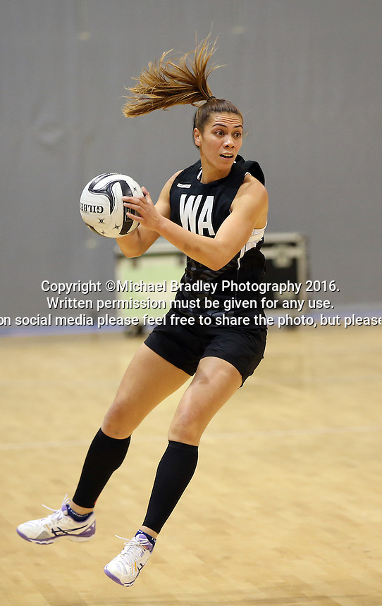 19.10.2016 Silver Ferns Grace Rasmussen in action during the Silver Ferns Training in Invercargill. Mandatory Photo Credit ©Michael Bradley.