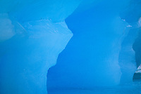 Blue ice closeup of a floating iceberg calved off a tidewater glacier, Prince William Sound, Alaska.