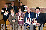 PTAA Social: The North Kerry Pioneer Total Abstinence Association branch held their annual social at The Lanterns Hotel , Tarbert on Friday night last where Gold & Silver pins were presented to those who have been pioneers for 25 & 50 years. Front  : Mary Ellen O'Connell, Causway, Anne Slattery, Causway, Joe Patwell, Tarbert (gold) and Michael O'Connor, Tarbert, (Silver). Back: John Slattery, Causway, Chris Donovan, Ballylongford and Michael Dowling (Gold) who accepted the gold pin on behalf of Sean Collins, Arue Mhuire, Listowel.