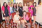 Emma Delaney, Tralee, pictured with Ashley and Michelle Delaney, Aisling Cahill, Niamh Morierty, Amanda Dineen, Bridget Delaney, Triona Fealy, Charlene Courtney, Laura O'Sullivan, Siobhan Galwey and Sharon Delaney as she celebrated her hen night in Lord Kenmares restaurant, Killarney on Saturday night.......
