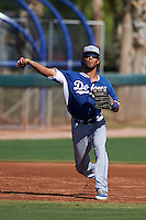 Los Angeles Dodgers Nick Sell (8) during an instructional league game against the Milwaukee Brewers on October 13, 2015 at Cameblack Ranch in Glendale, Arizona.  (Mike Janes/Four Seam Images)