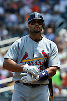 St. Louis Cardinals first baseman Albert Pujols #5 during a game against the New York Mets at Citi Field on July 21, 2011 in Queens, NY.  Cardinals defeated Mets 6-2.  Tomasso DeRosa/Four Seam Images