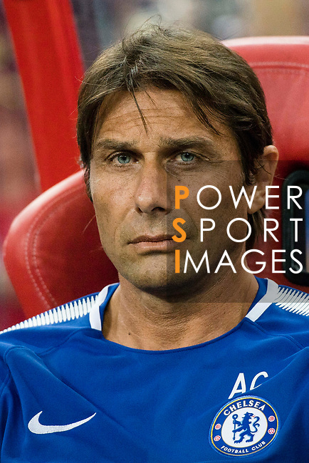 Chelsea Head Coach Antonio Conte during the International Champions Cup match between Chelsea FC and FC Bayern Munich at National Stadium on July 25, 2017 in Singapore. Photo by Marcio Rodrigo Machado / Power Sport Images
