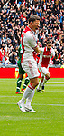 Nederland, Amsterdam, 15 april 2012.Eredivisie .Seizoen 2011-2012.Ajax-De Graafschap.Derk Boerrigter van Ajax juicht nadat hij de 1-0 heeft gescoord