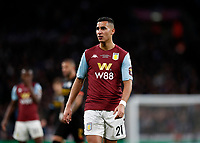 1st March 2020; Wembley Stadium, London, England; Carabao Cup Final, League Cup, Aston Villa versus Manchester City; Anwar El Ghazi of Aston Villa - Strictly Editorial Use Only. No use with unauthorized audio, video, data, fixture lists, club/league logos or 'live' services. Online in-match use limited to 120 images, no video emulation. No use in betting, games or single club/league/player publications