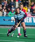 Laren - Mila Muyselaar (Lar) tijdens de Livera hoofdklasse  hockeywedstrijd dames, Laren-Oranje Rood (1-3).  COPYRIGHT KOEN SUYK