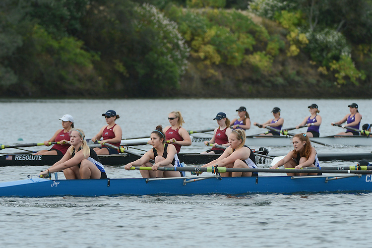 May 17, 2014; Gold River, CA, USA; I Four race, Creighton Jays during the WCC Rowing Championships at Lake Natoma.