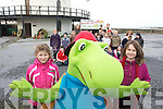 Pictured at Blennerville windmill at the announcement of the new Ti?r na nO?g Festival which runs from from April 1st to 11th and will transform the town into a family playground are Ellen Wallace and Kara Prendeville with Toby from Tobyworld in background are children from Blennerville National School...