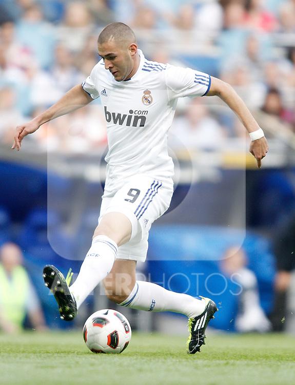 Real Madrid's Karim Benzema during La Liga Match. May 21, 2011. (ALTERPHOTOS/Alvaro Hernandez)