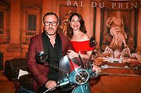 CLAUDIO LEMMI & sa femme JULIA SARDELLA - Bal du Printemps 2017 à Genève, Suisse, 21/03/2017.