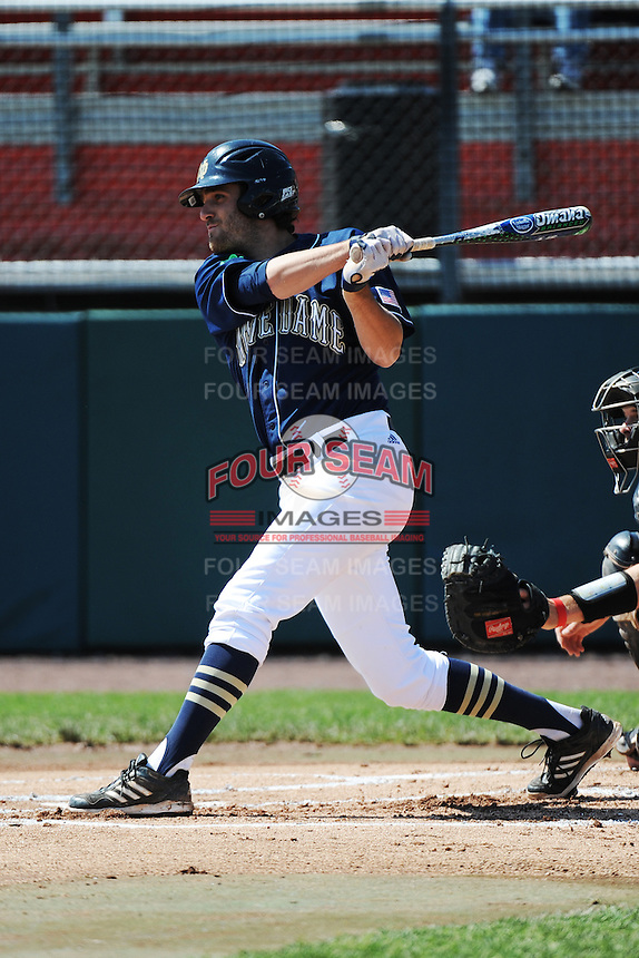 University of Notre Dame Fighting Irish outfielder Charlie Markson (20) during game against the St. John's University Redstorm at Jack Kaiser Stadium on May 12, 2013 in Queens, New York. St. John's defeated Notre Dame 2-1.      . (Tomasso DeRosa/ Four Seam Images)