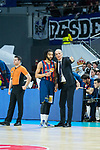 Coach Dusko Ivanovic and Pierria Henry during Real Madrid vs Kirolbet Baskonia game of Liga Endesa. 19 January 2020. (Alterphotos/Francis Gonzalez)